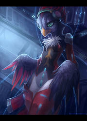 .: Cyber Bird :. by JuliaTheDragonCat