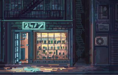 Pixel Dailies- Storefront