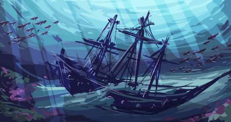 Shipwreck 30min sketch #15