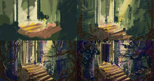 The Library Temple- Art Process