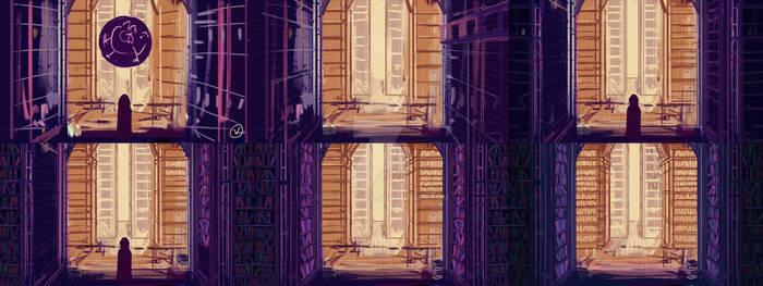 Grand Library Art Process