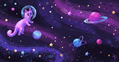 Celestial Catstronaut
