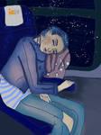 Dreamy travel girl
