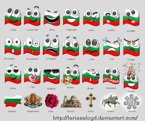 Emoticons by LarissaLoyd