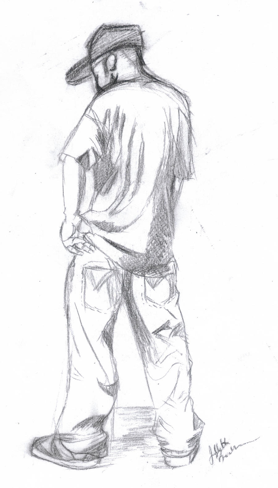 Human Figure Standing Drawing