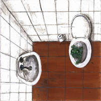 Don't Flush by SiminaArt