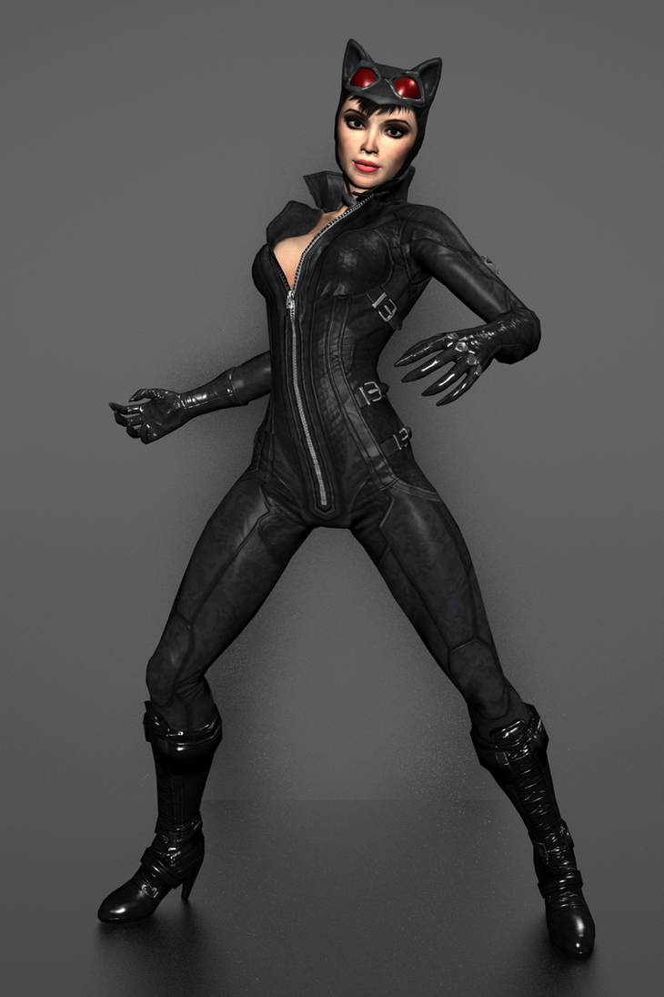 Batman Arkham City - Catwoman by IshikaHiruma