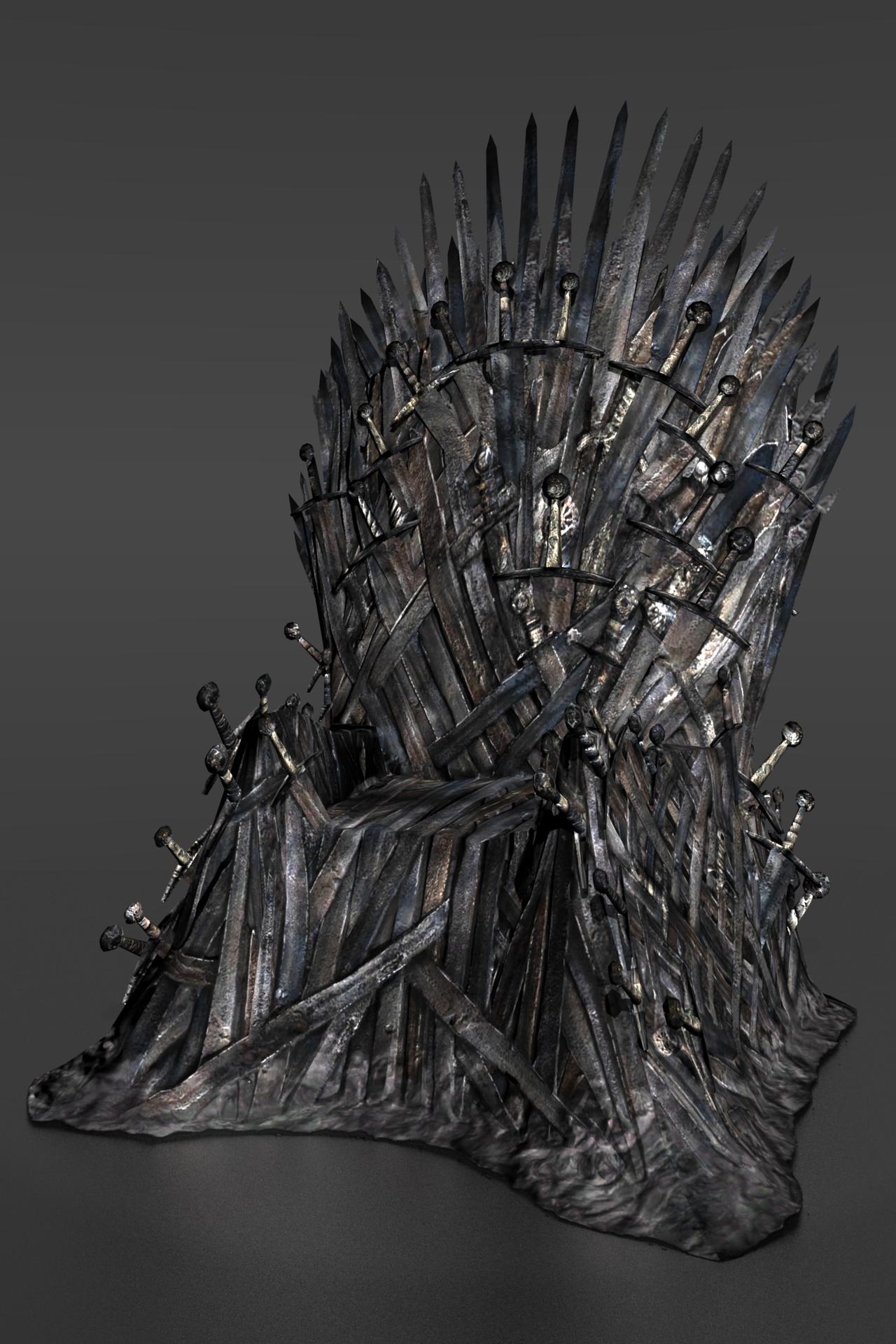 Game of thrones iron throne by ishikahiruma on deviantart for Iron throne painting