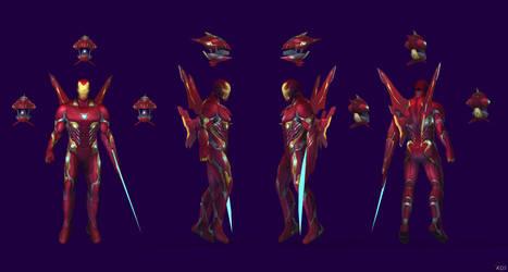 Future Fight - Iron Man Mark L Infinity War by IshikaHiruma
