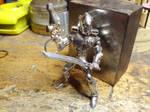 Silver eldar guardien by Debals