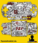 my psp 1000 custom skin by kawanuwa