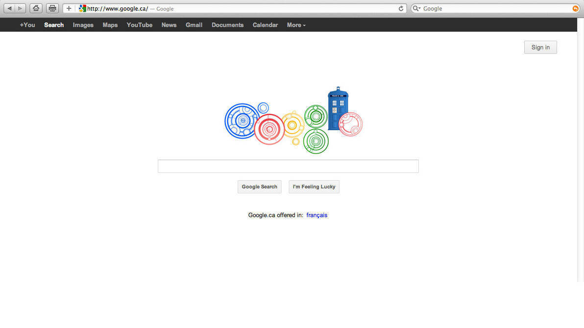 Doctor Who Google Doodle by HugoLynch on DeviantArt on