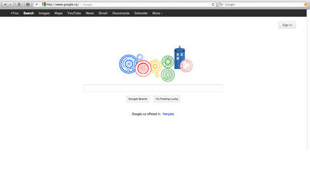 Doctor Who Google Doodle by HugoLynch