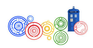 Doctor Who Google Doodle Close-up