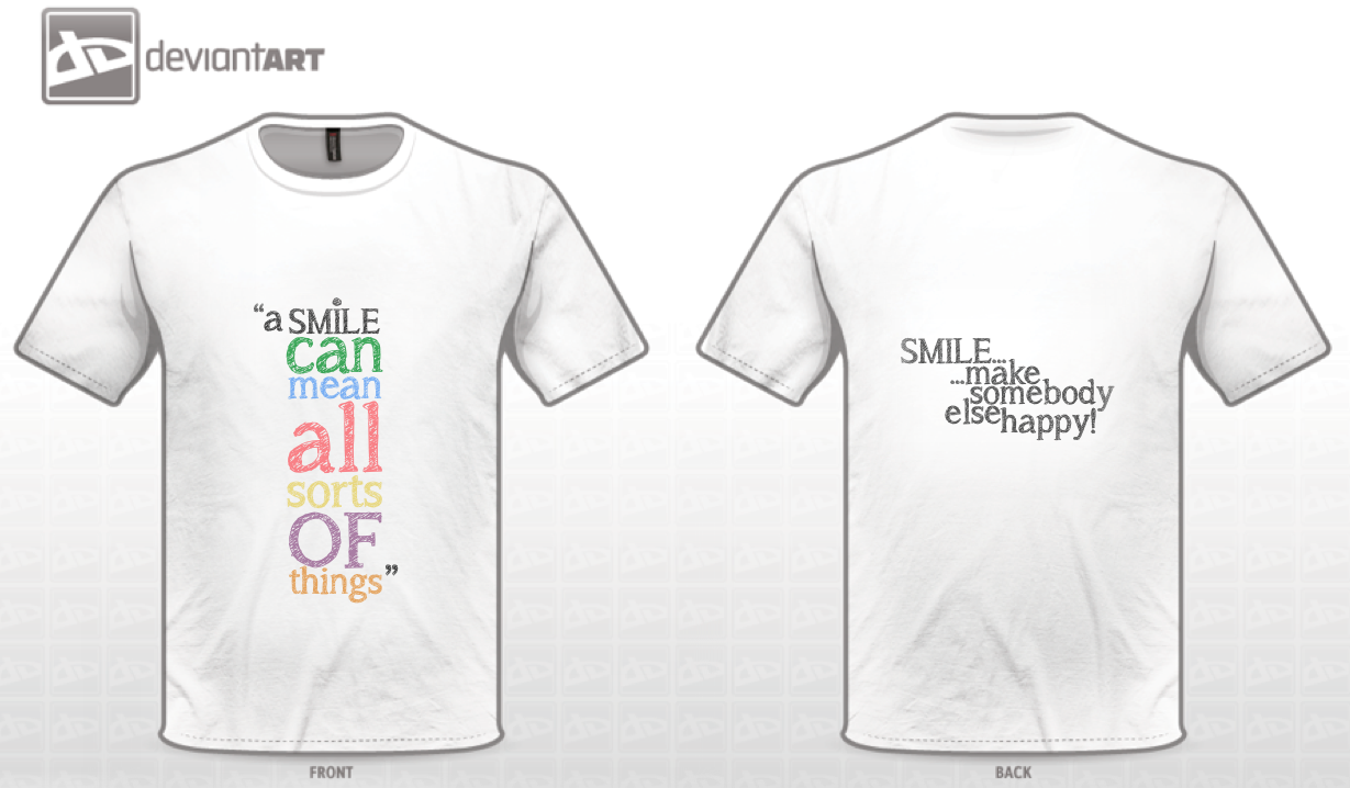 Smile: T-shirt Design by HugoLynch