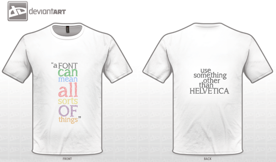 Fonts t shirt design by hugolynch on deviantart How to design shirt