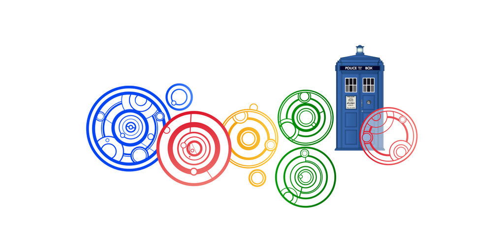 Doctor Who Google Doodle Close-up [new version 11]