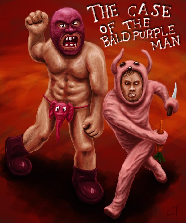 The Case of The Bald Purple Man by Zombiehellmonkey
