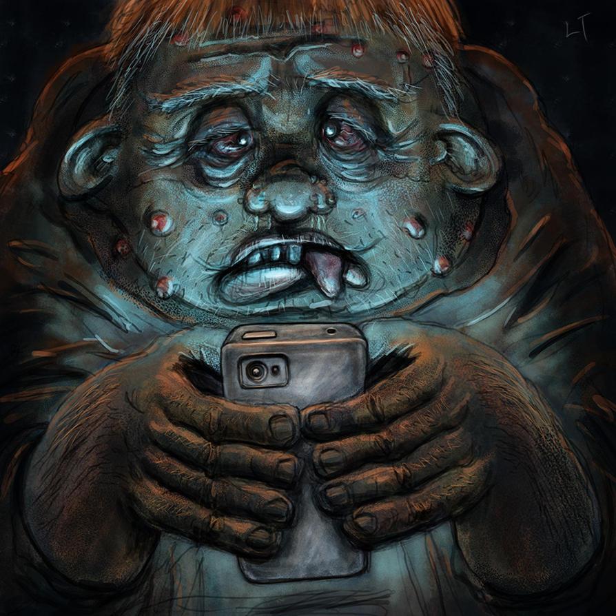 Smartphone Zombie by Zombiehellmonkey