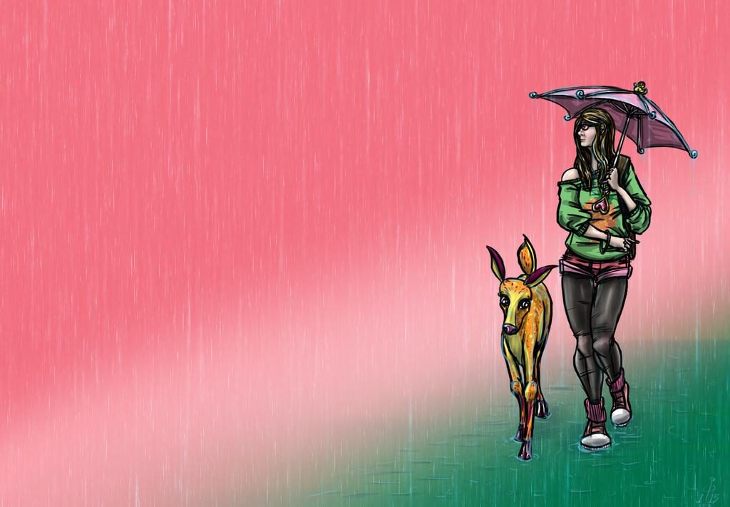 Rain Dear by cheddarpaladin