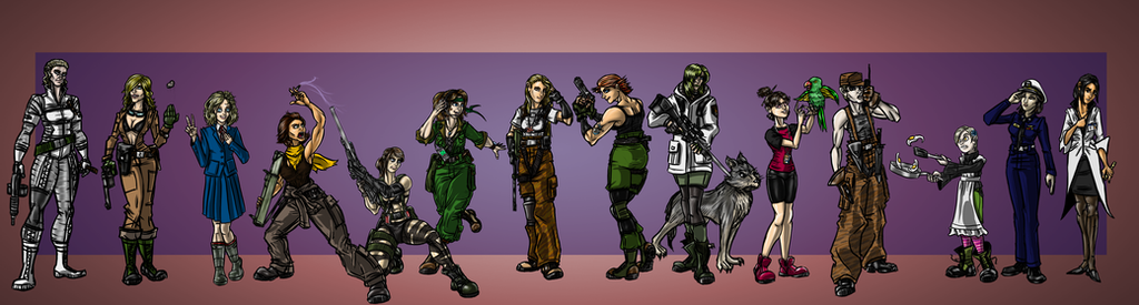 MetalGearWomen by cheddarpaladin