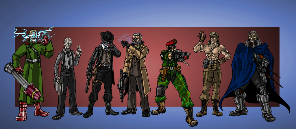 MetalGearVillains by cheddarpaladin