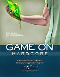 'Game On, Hardcore' - coming March 24!
