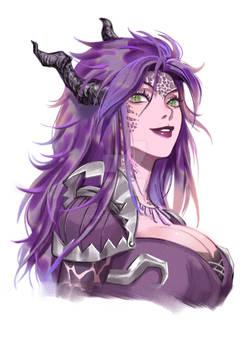 Commission:  Wild purple