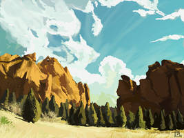 Canyon-speed-painting-Luca pisanu by skater-xl