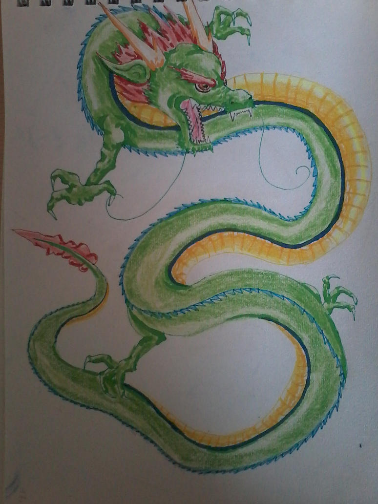 Chinese Dragon by FlamedMoonwolf