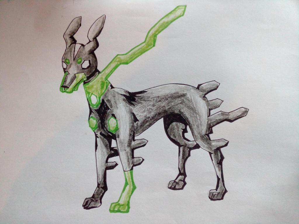 10% Zygarde - the dog by FlamedMoonwolf