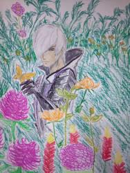 in the garden of Osaka castle by FlamedMoonwolf