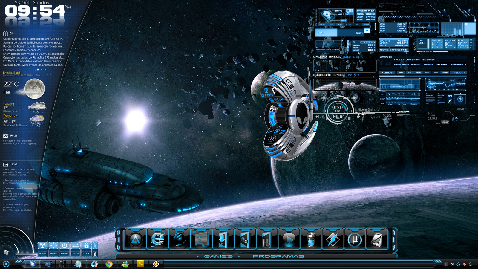 SPACECRAFT DESKTOP THEME by leobru19