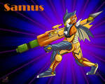 Samus X Monster Hunter by sammacha