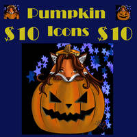 Adorable pumpkin icons $10+ for donations by sammacha