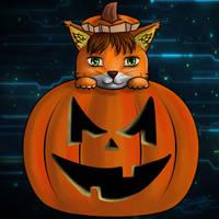 Techno Cat by sammacha