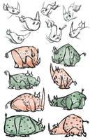 Rhinoceroseses by Polarkeet