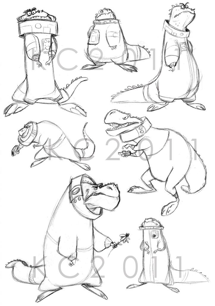 Dinonaut studies by Polarkeet