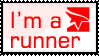 """I'm a runner"" stamp. by Chisco-man"