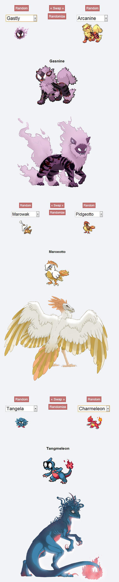 Pokemon Fusion by Mondfalke