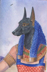 Anubis, lord of the west by echdhu