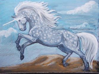 Dappled Unicorn ACEO by echdhu