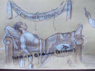Bucky Barnes' 102nd birthday: aftermath. by echdhu