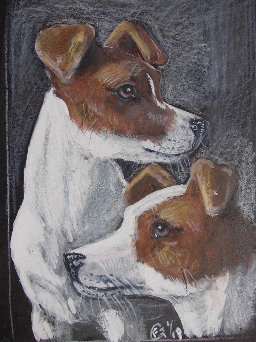 A pair of Jacks ACEO by echdhu
