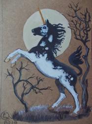 Moon Unicorn aceo