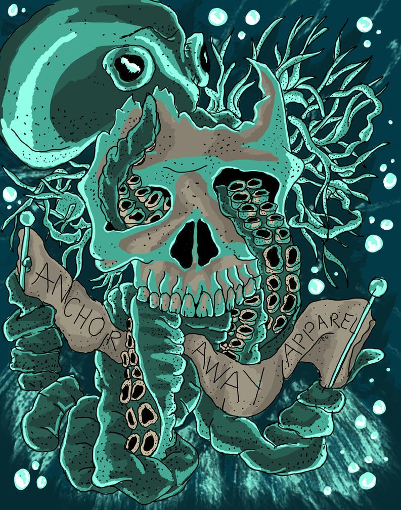 octopus skull design by atcovrett on deviantart. Black Bedroom Furniture Sets. Home Design Ideas