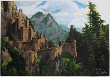Kaer Morhen - Acrylic painting