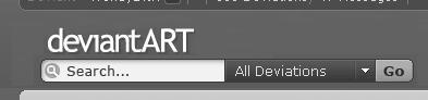 DA logo above search bar