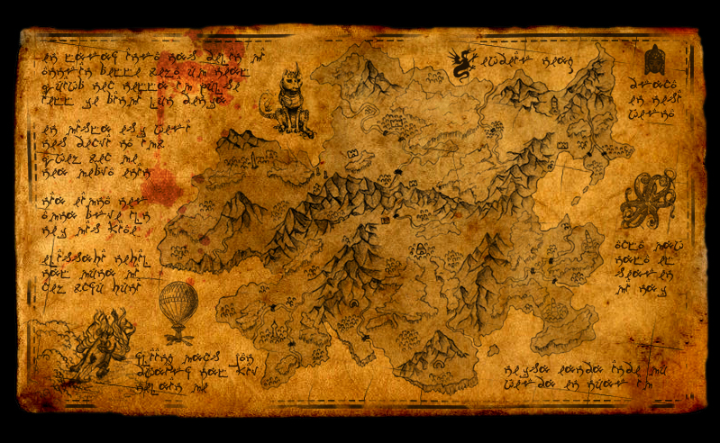 Elvish Old Map by elvenjob