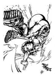 Redline by Barrios inks by shoveke